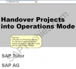 How to handover projects in to operations mode with the SAP Solution Manager
