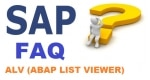 ABAP List Viewer (ALV) Interview Questions and Answer