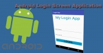 Login Screen Application Example in Android