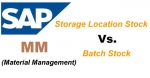 Difference between Batch Stock and Storage location Stock