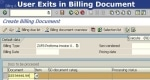 User Exits in Billing Document