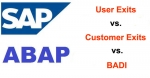 Difference between User Exits, Customer Exits and BADI