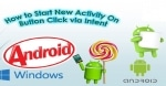 Start New Activity on Button Click in Android
