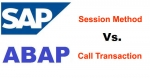 Differences between Call Transaction and Session Method in BDC