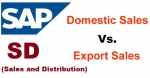 Difference between Domestic Sales and Export Sales