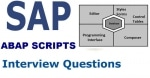 SAP ABAP Scripts Interview Questions and Answers with Explanation