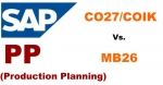Differences between Transactions CO27/COIK and MB26