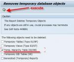 SAP_DROP_TMPTABLES report gives Error in the RFC communication: RFC destination xxx does not exist.