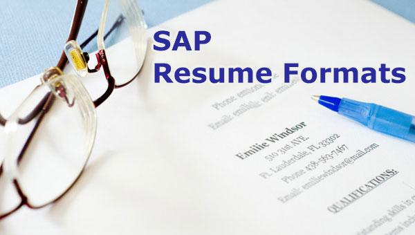 Sap Abap Sample Resumes